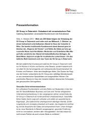 Medienmitteilung (PDF) - SV Group