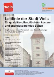 Leitlinie der Stadt Wels für qualitätsvolles, flächen-, kosten- und ...