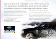 Die Land Rover Winter Driving Center - Auto Stahl