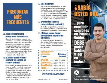 sabía usted que… - Federal Motor Carrier Safety Administration ...