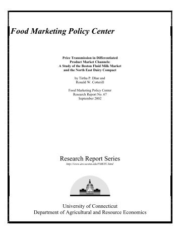 Food Marketing Policy Center Uconn