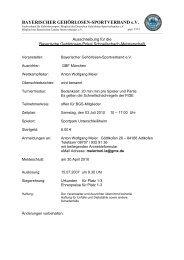 BAYERISCHER GEHÖRLOSEN-SPORTVERBAND e.V.