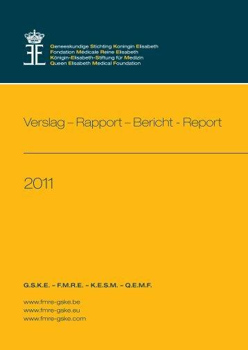 Verslag – Rapport – Bericht - Report - GSKE - FMRE