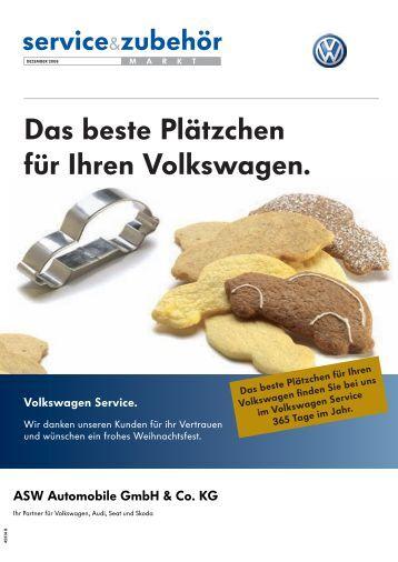 Das beste Plätzchen für Ihren Volkswagen. - Startseite | ASW ...