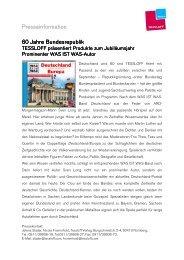 60 Jahre Bundesrepublik TESSLOFF präsentiert Produkte zum ...