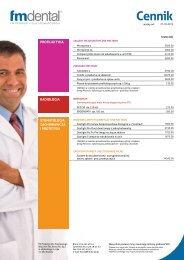 Cennik - FM Dental Produkty Dla Stomatologii