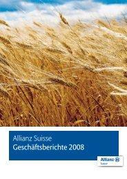 Allianz Suisse Geschäftsberichte 2008