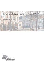 Halbjahresbericht 2005 - Basler Kantonalbank