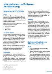 Informationen zur Software- Aktualisierung - BMW