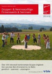 Gruppen- & Vereinsausflüge Firmenevents & Seminare - BLS