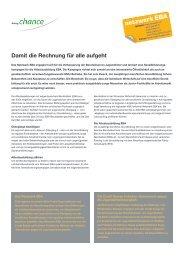 Factsheet Netzwerk EBA - Stiftung Chance
