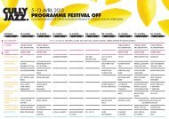 PROGRAMME FESTIVAL OFF - Cully Jazz Festival