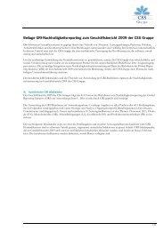 Nachhaltigkeitsbericht 2009 - CSS Versicherung