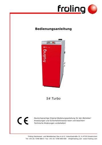 Bedienungsanleitung S4 Turbo