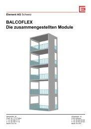 BALCOFLEX Die zusammengestellten Module - Element AG