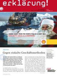 Gegen eiskalte Geschäftsmethoden - Erklärung von Bern