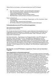 Offener Brief an die Handels- und Aussenminister/innen der EFTA ...