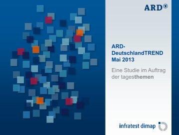 ARD- DeutschlandTREND Mai 2013 Eine Studie im ... - Tagesschau