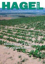 Klimawandel: Es wird sich einiges ändern! - Schweizer Hagel