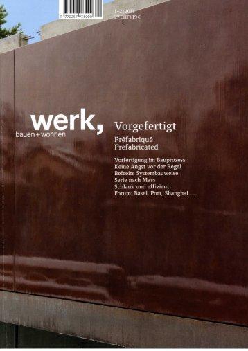 Bericht in der Zeitschrift Werk 2/2011 - hls Architekten