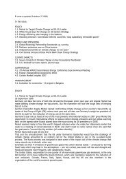 E-news update October 2 2006 In this issue: POLICY 1.1 ... - Focus