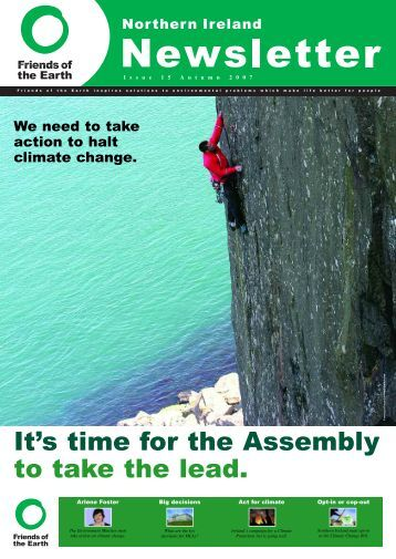 Northern Ireland Newsletter issue 15 - Friends of the Earth
