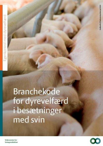 branchekoderne for svin - Fødevarestyrelsen