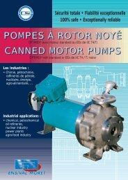 pompes à rotor noyé canned motor pumps - Ensival-Moret Industrial ...