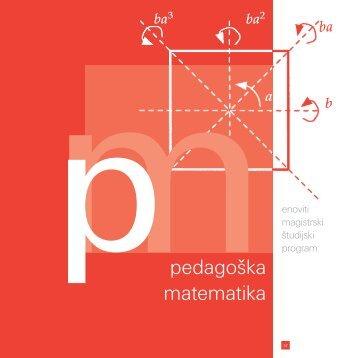 pedagoška matematika - Fakulteta za matematiko in fiziko