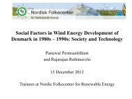 Social Factors in Wind Energy Development of Denmark - Nordic ...