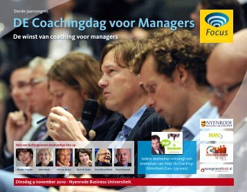 DE Coachingdag voor Managers - Focus Conferences