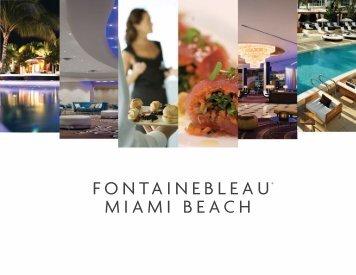 Banquet Presentation Overview091710 Fontainebleau Miami Beach