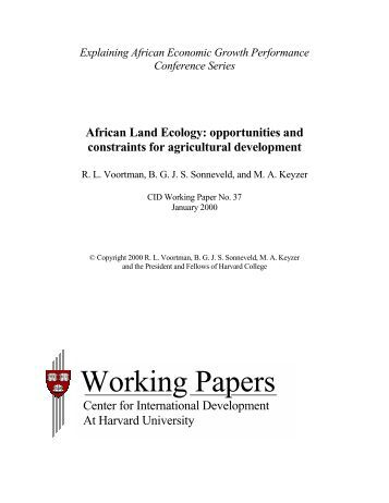 African Land Ecology - Foodnet