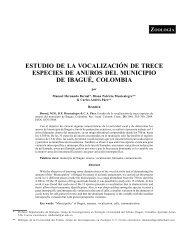 ESTUDIO DE LA VOCALIZACIÓN DE TRECE ESPECIES DE ...