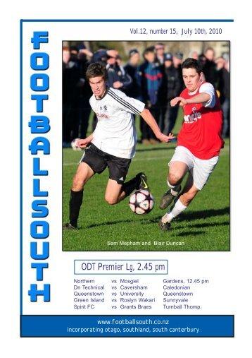 ODT Premier Lg, 2.45 pm - Football South