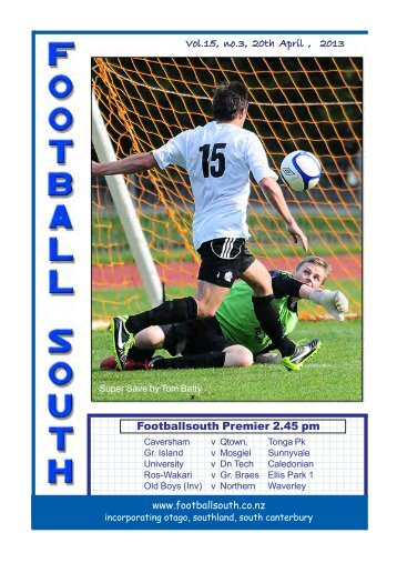 20th and 21st April 2013 - Football South