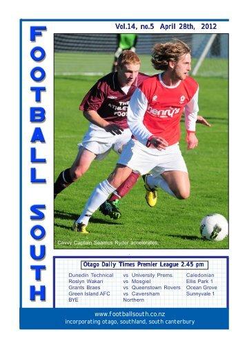 5.25 High, 4.25 wide Vol.14, no.5 April 28th, 2012 - Football South