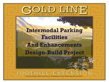 Intermodal Parking Facilities And Enhancements Design-Build Project
