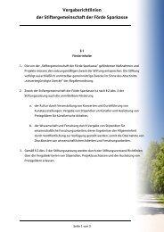 Vergaberichtlinien Stiftergemeinschaft - Förde Sparkasse
