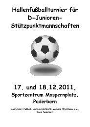 Bürgermeisterpokal 2011 Spielplan - FLVW Kreis Paderborn