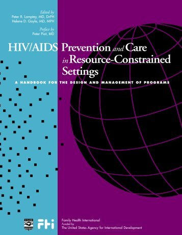 HIV/AIDS Prevention Care Resource-Constrained Settings - Forced ...