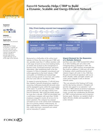 Force10 Networks Helps CTRIP to Build a Dynamic, Scalable and ...