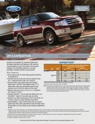 Expedition Towing Guide - Ford