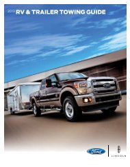 2013 RV & TRAILER TOWING GUIDE - Ford