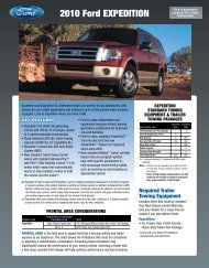 Ford 2010 Expedition Towing Guide