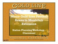 Workshop Presentation - Metro Gold Line