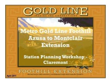 Workshop Presentation - Metro Gold Line