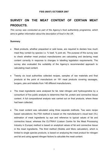 (/05) DECEMBER 2005 DRAFT 1 - Food Standards Agency