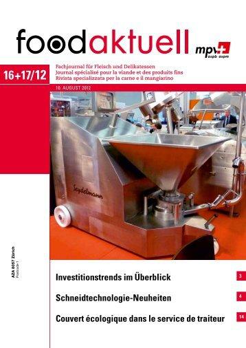 Investitionstrends im Überblick Schneidtechnologie ... - Foodaktuell.ch