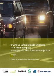 Driving Up Carbon Dioxide Emissions from Transport